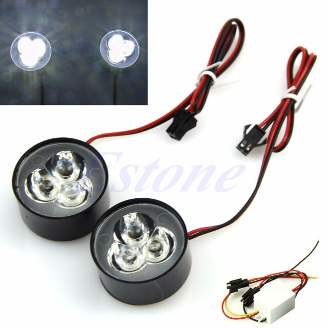 Super Bright White 3 LED Car Flash Strobe Emergency Warning Light Bulb 12V New