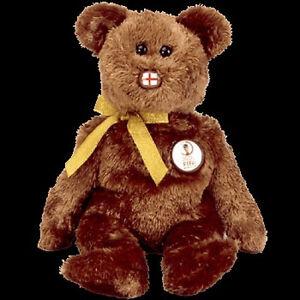 c053b5bf3c2 TY BEANIE BABY CHAMPION Bear ENGLAND 2002 FIFA World Cup Soccer MWMT ...