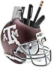 TEXAS A&M AGGIES NCAA Schutt Mini Football Helmet DESK CADDY