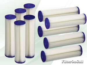 10 Pleated Washable Sediment Water Filter 5 Micron Reverse