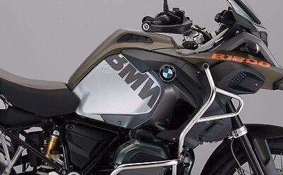 BMW R1200GS LC Adventure BMW Side tank stickers Silver Metallic Dark Matte