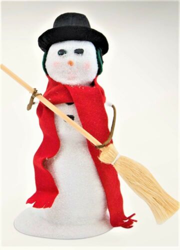 New Byers Choice Snowman with Broom FREE SHIPPING