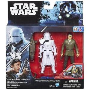 Star-Wars-Force-Awakens-Poe-Dameron-amp-Snowtrooper-Officer-3-75-figures
