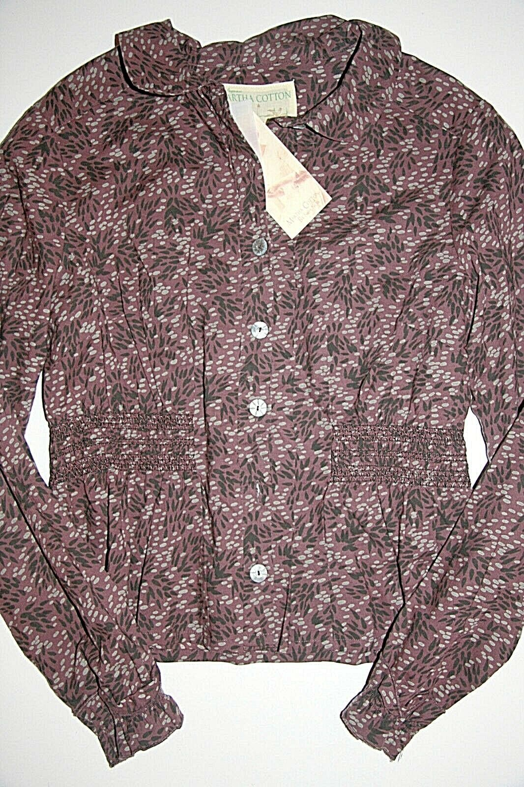 Noa Noa   bluese Langarm  Martha Cotton Prune  size  S  Neu