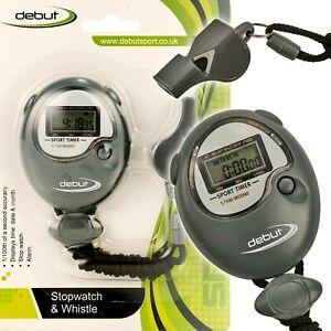 Digital-Stopwatch-amp-Whistle-Set-Sports-Alarm-Speed-Football-School-Referee-Timer