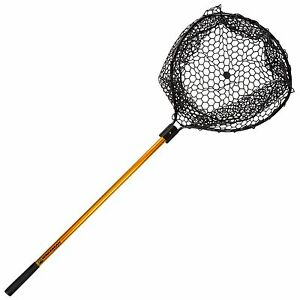 56-Inch-Retractable-Rubber-Landing-Net-Safe-for-Fish-35-Inch-Handle-No-Snag