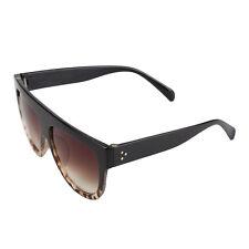 44afaaa0ebb Black Oversized Shadow Sunglasses Flat Top Shield Women s Ladies High  Quality