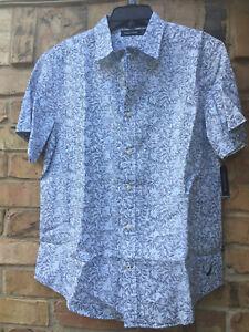 36be8a5d15db39 NWT Men Nautica Classic Fit Floral Print Linen-Blend Short Sleeve ...