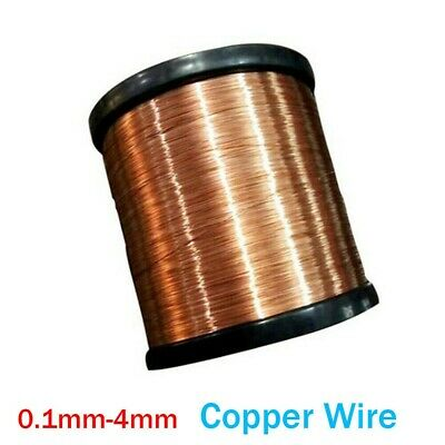 10m Solid Bare Copper Wire Coil Wirework Jewellery Making Handmade 0.1-4mm DIY