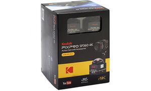 Kodak PIXPRO SP360 4K Action Cam 12MP Dual Pro Pack Digital Camera New Agsbeagle