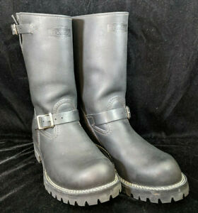 West-Coast-Shoe-Company-Vibram-100F-11-034-Riding-Boots-Boss-Black-Leather-Size-11
