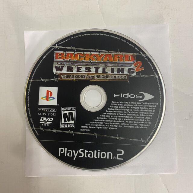 Backyard Wrestling 2 There Goes the Neighborhood PS2 DISC ...