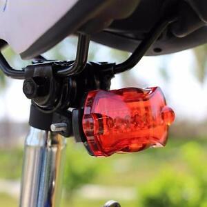 Bicicleta-Bici-Ciclismo-5-Led-Parte-Trasera-Seguridad-Luz-de-Destello-Rojo-Mount
