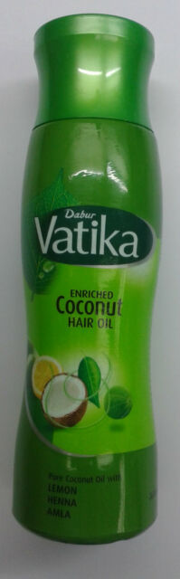 Dabur Vatika Enriched Pure Coconut Hair Oil with Lemon + Henna+ Amla :: Vatika