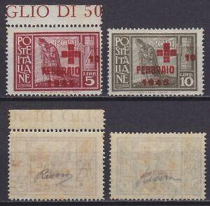 Colonie 1945 Pro Croce Rossa 132-133 serie 2 val. nuova MNH** gomma integra
