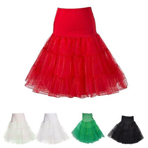 "26/"" Sottogonna retrò 50s Swing Vintage Petticoat Fancy gonna rete Rockabilly Tutu"