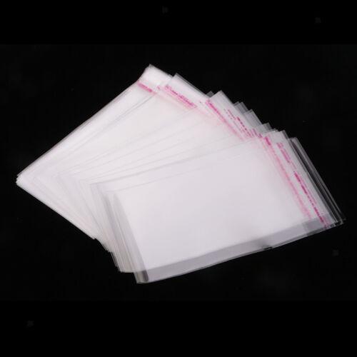 Self Sealing Peel /& Seal OPP Clear Plastic Cellophane Cello Bags 100x 8x12cm