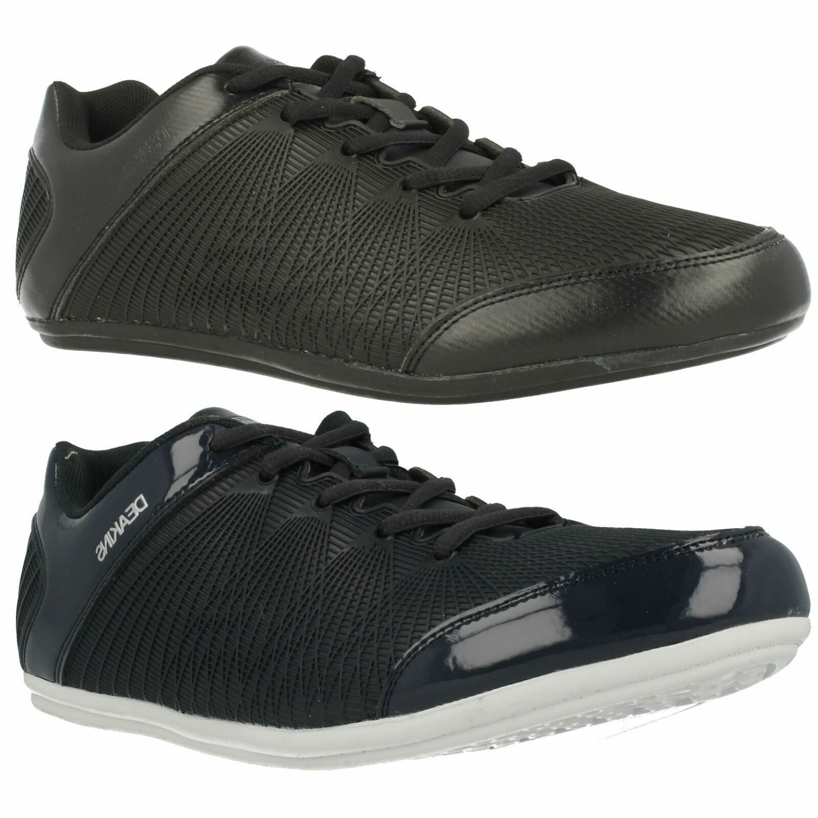 DEAKINS MCLAREN MENS BLACK CASUAL LACE UP EVRYDAY FLAT TRAINERS SHOES SIZE