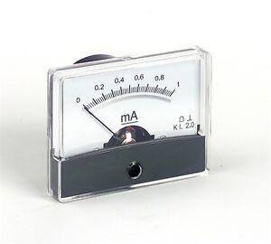 Panel Meter 47x60mm Various Ranges Analogue Moving Coil Meter