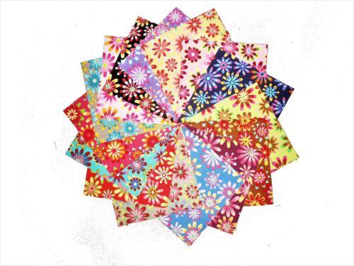 "60 5/"" Quilting Fabric Sqs//Beautiful Retro Flower Power Charm Pack!!!!"