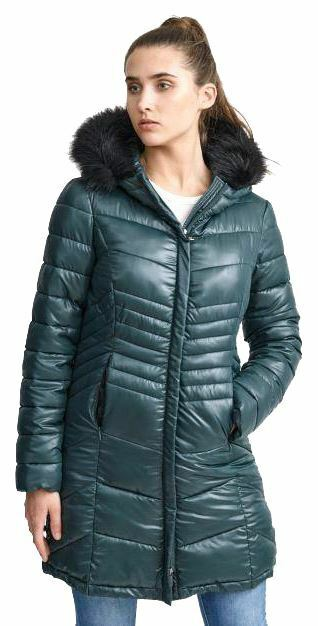 damen Designer Faux Fur Hooded Quilted Puffer Padded Winter Jacket Coat 8-16