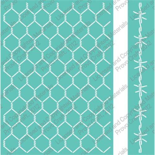 2001398 Cuttlebug 5x7 Inch Embossing Folder Set Chicken Wire /& Border