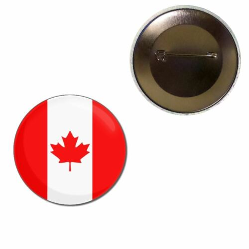 Button Badge Canada Flag Choice 25mm//55mm//77mm Novelty Fun BadgeBeast
