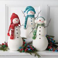 Snowman Figures 17in Christmas Winter Decoration Set 3 Rzchtt 3616525 Raz