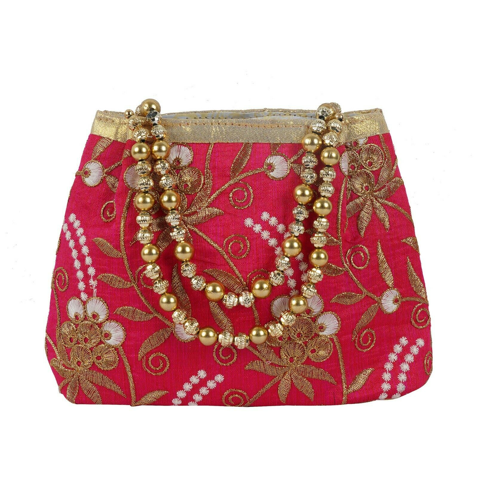 Rajasthani Style Royal Clutch Silk hand Bag Wristlets Ethnic For Women's