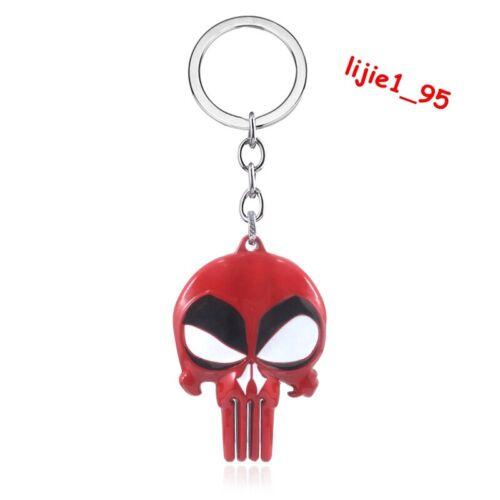 Marvel Punisher Red Skull Design Logo Alloy Key Chains Keychain Keyfob Keyring