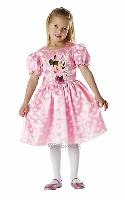 GIRLS CLASSIC PINK MINNIE MOUSE DISNEY MICKEY CARTOON FANCY DRESS COSTUME OUTFIT