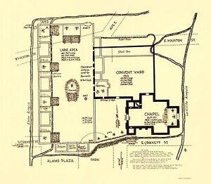 Map Of Texas Revolution.Old Map Texas Revolution Alamo In San Antonio 1836 23x26 Ebay
