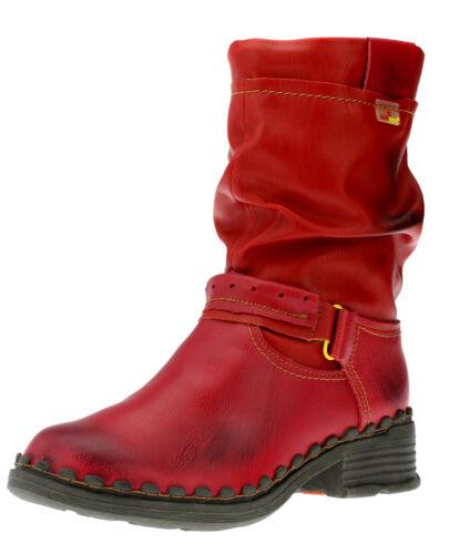 TMA Damen Stiefel Stiefeletten Boots Winterschuhe Warm Winterstiefel Rot Neu