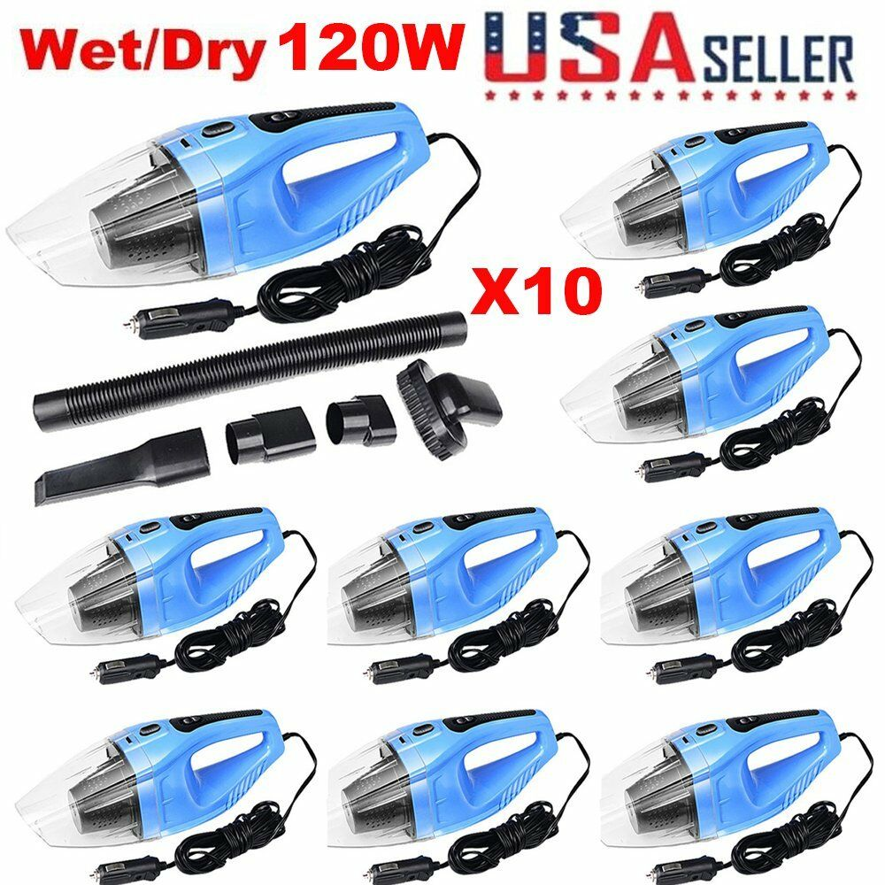 10 PCS 120W Portable Handheld Car Vacuum Cleaner DC 12V Wet & Dry MS