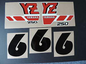 1988 YAMAHA YZ 250 SHROUD DECALS VINTAGE MOTOCROSS