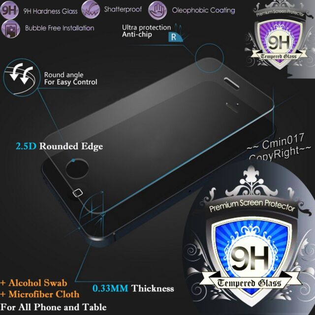 9H Premium Tempered Glass Screen Protector Film for cover case Table Phone Other