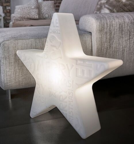 Lampe Leuchte Shining Star Stern Weiß 8 Seasons Merry Christmas Ø 60cm