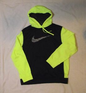 XL Black and Boys Yellow about Sweatshirt Therma Details Fit Neon Hoodie Nike Youth EUC eD9H2IYbWE