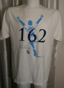 Evan-Longoria-Tampa-Bay-Rays-Home-Run-162-Short-Sleeve-T-Shirt-Mens-XL-46-034-White