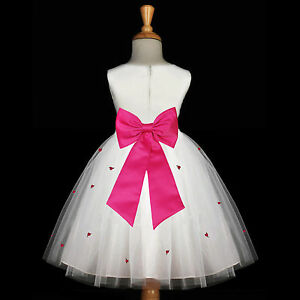 a1684ab5cd Image is loading Flower-Girl-Dress-Communion-Pageant-Wedding-Easter -Graduation-