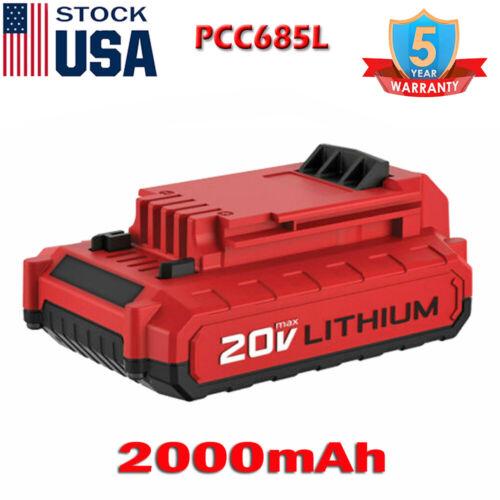 2XFor Porter Cable PCC685L 6.0Ah 20V MAX Lithium Battery PCC680L PCC681L PCC682L