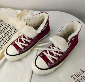 Женские мужские мальчики девочки теплый мех на подкладке кроссовки ботинки с высоким верхом холст спортивная обувь