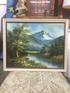 Reeves-Oil-Painting-Landscape-w-Frame-22-x18-Original-Signed-Art