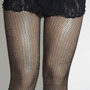 c58f1be1da5ee PLUS SIZE GOLD LUREX SPARKLE GLITTER FISHNET TIGHTS 1/2 3/4 COLLANT ...