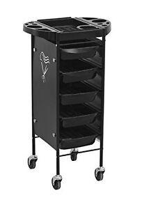 heavy duty steel frame beauty salon rolling trolley cart with 5 drawers ebay. Black Bedroom Furniture Sets. Home Design Ideas