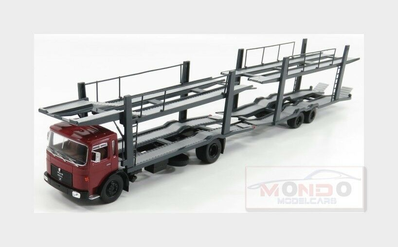 Man Car Transporter With Trailer 1970 rouge gris IXO 1 43 TTRX007