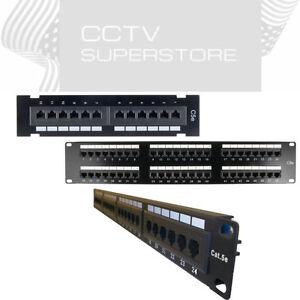 12 24 48 Port Cat5e Rj45 110 Network Patch Panel Surface
