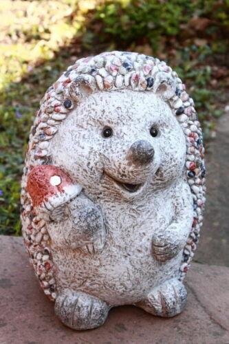 Gartendekoration Gartenfigur Igel m Pilz Steinoptik riesig