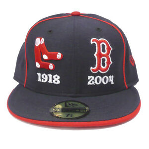 Boston Red Sox Vintage New Era 2004 World Series Champions 59Fifty ... 2d1d078f380