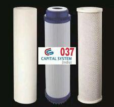 RO FILTER RO Water Purifier Spun Kemflo PP+CTO+GAC 100% Orignal.1 Pcs Each [037]